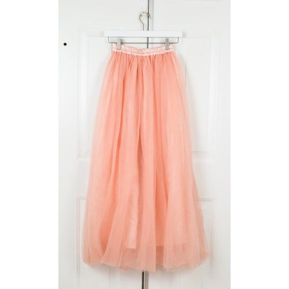 f3b4c11341a7 Omelas Skirts | Long Floor Length Tulle Skirt High Waisted Maxi ...